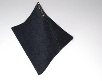 Kit berlingot in raw jeans blue 15 x 16 cm