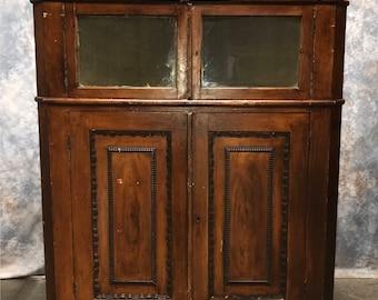 Corner Cabinet With Doors Cupboard Bathroom Mid Century Dining Room Modern  Kitchen Wood Vintage Farmhouse Antique