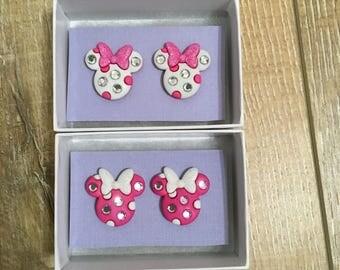 Minnie Mouse Stud earrings!