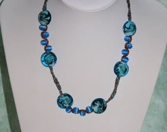 Necklace turquoise Brown ethnic style