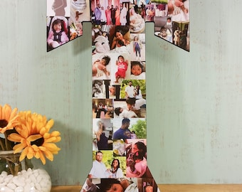 22 inch Custom Photo Collage, Photo Collage Letter, Personal Collage, Photo Collage, Personal Photos, Custom Photo Letters, Photos