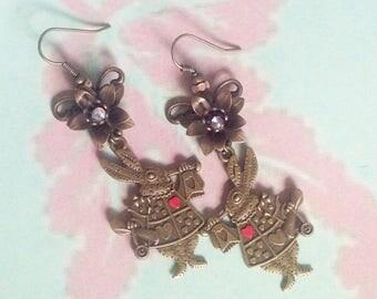 Earrings rabbit from Alice
