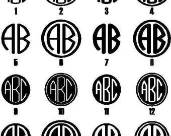 Monogram Monogram Decal Monogram Sticker Monogram Laptop Decal Window Sticker  Window Decal Monogram