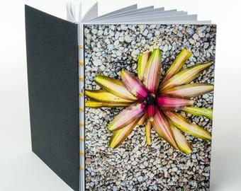 SPIKY PHORMIUM FOLIAGE | small handmade coptic bound blank book diary journal notebook original cover photo | aBoBoBook