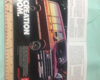 1987 Two page Dodge Ram Wagon magazine ad