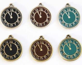 12mm vintage cute clock pendant,clock charm,clock necklace,clock bracelet,clock anklet,clock jewelry,charm for women teens girls AC391