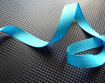 Old Ribbon in turquoise satin 3 m x 1.5 cm