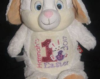 Personalised White Bunny/rabbit , Easter Bunny, Easter gift, rabbit toy, pregnancy gift, personalised gift, birthday gift, plush rabbit,