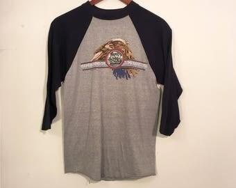 Vintage 80's Doobie Brothers Tour Shirt Raglan Small