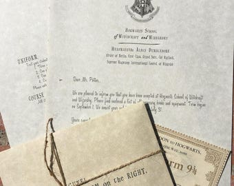 Harry Potter, Hogwarts Acceptance Letter & Train Ticket - Harry Potter Collectible and OWL Exam Results Letter