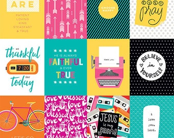 Illustrated Faith Bright and Brave 3x4 Journaling cards