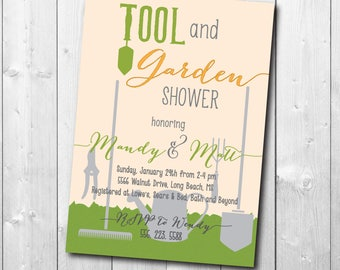 Tool and Garden Shower Invitation/Honey Do Invitation/Tool and Gadget, Groom Shower/printable/Digital File/wording and colors can be changed