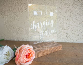 Charging Station Sign - Charging Bar Sign - Charge Your Device Sign - Charging Bar Sign for Weddings - Charging Station Sign for Events
