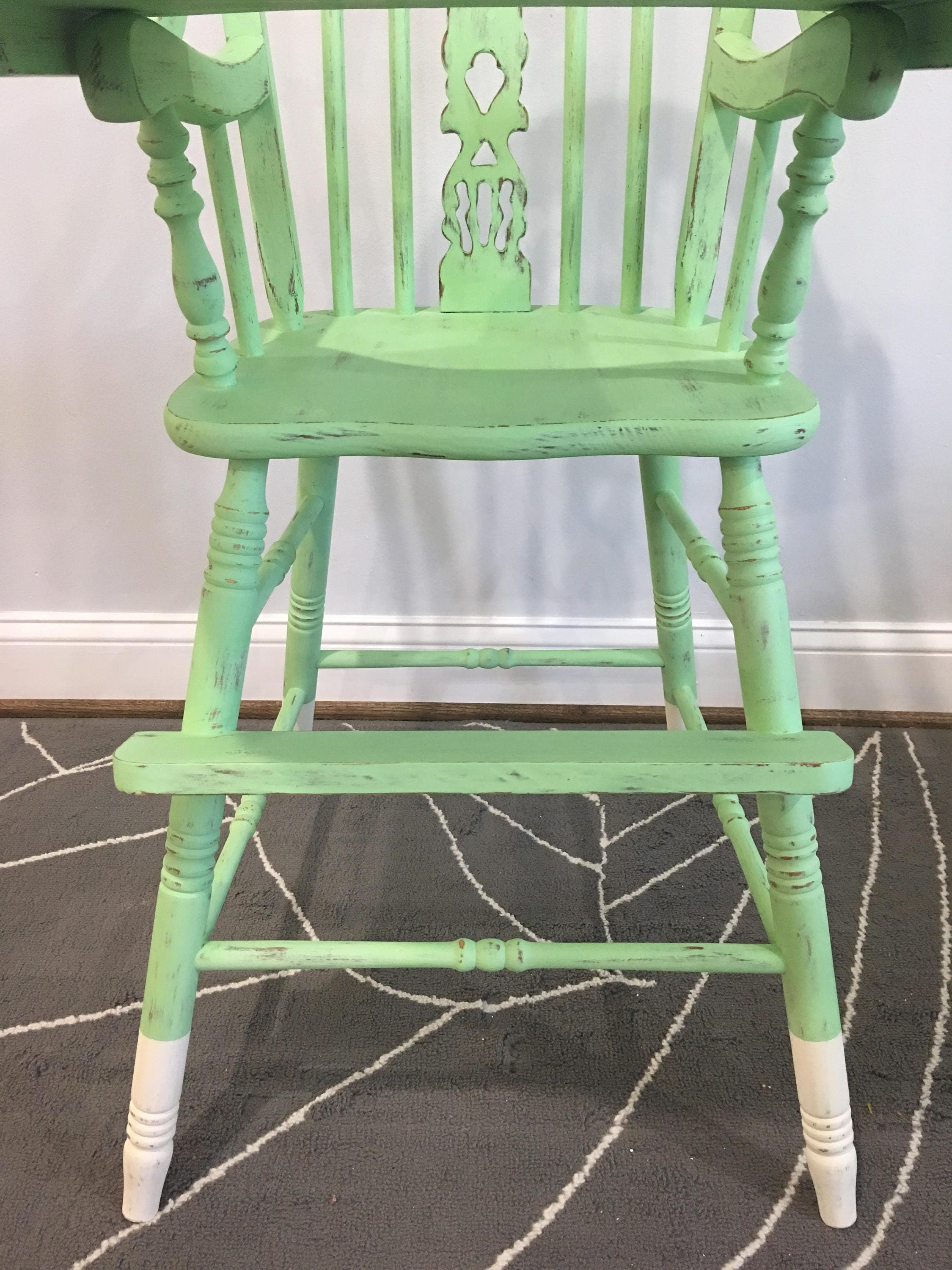 Vintage wooden high chair - Vintage Wooden High Chair