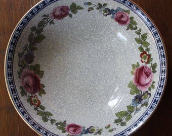 """Vintage Victorian Edwardian Era China FURNIVALS LIMITED 6"""" Cereal Bowls 1522b c1890-13 Set of 2"""