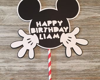 Mickey Mouse Cake Topper Mickey Mouse Birthday Party Decorations **Customized for FREE**