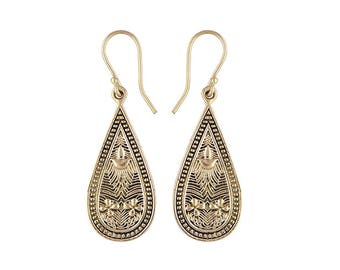 ANUKET  bohemian brass earrings