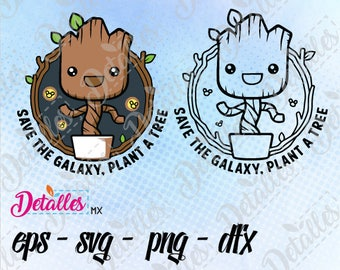 Groot Baby svg, guardians of the galaxy clipart SVG Cutting Vector Eps High Quality design files ai eps for Cricut and Silhouette Cameo