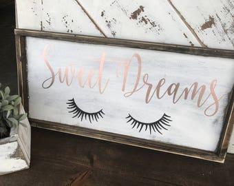 Sweet dreams / little one / girls room / nursery decor / nursery / gallery wall / girls bedroom / rustic / rustic glam / sweet dreams
