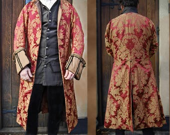 pirate coat 18th century Red and gold frock coat