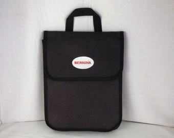 """Genuine Bernina Bag for Hoops, Embroidery Cards, CDs, Accessories Handle Velcro Closure 13"""" x 10"""" x 1.5"""" Great for Class Projects Retreats"""