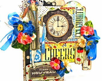 It's the Bee's Knees Vintage Style Mixed Media Tag Folio