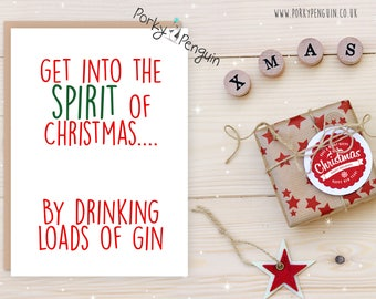 Christmas Spirit Gin & Tonic! Christmas card