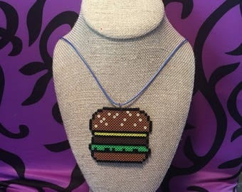 Burger beaded necklace