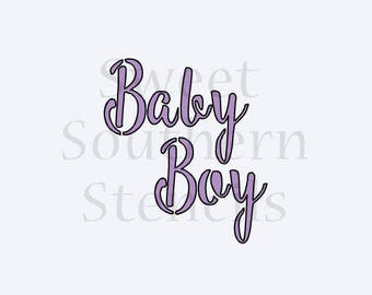 Baby Boy Cookie Stencil (2 different options)