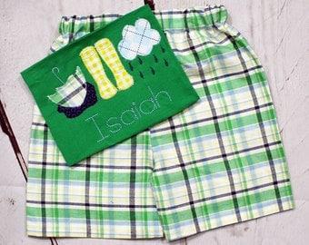 Boys Rain Boots Shirt- Rain Cloud- April showers- Toddler Boys- Spring Shirt- Rain drops- Baby Boys- Size 6m, 12m, 18m, 2t, 3t, 4t, 5t, 6