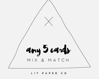 Mix and Match // Any 5 Greeting Cards