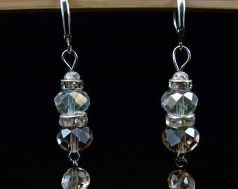 Pink Crystal Earrings, E0222