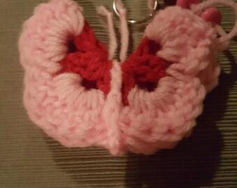 Crochet Butterfly Keychain