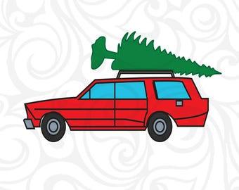 Christmas Station Wagon Tree SVG, jeep svg,christmas svg, christmas truck svg,reindeer svg,elf svg,santa svg,cricut,silhouette cameo