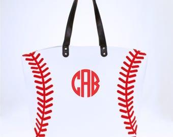 Monogram Baseball Tote