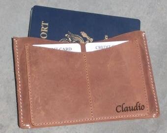 passport cover initials leather passport holder passport