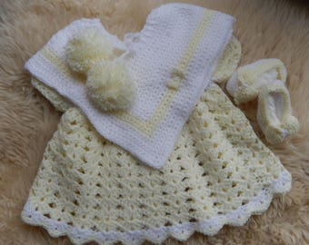 Crochet outfit for 0-3 months old