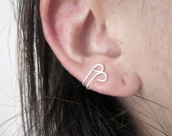 Ear cuff - bijoux pour lobe - argent sterling - faux piercing
