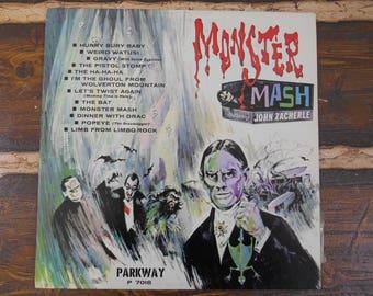 Monster Mash John Zacherle Parkway P 7018 Vintage Vinyl Record LP 1962