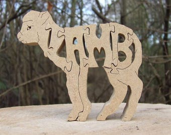 Lamb gift, Lamb ornament, farm animal gift, wooden lamb, sheep, farm gift, gift for lamb lover, unique lamb gift, chic gift, childrens decor