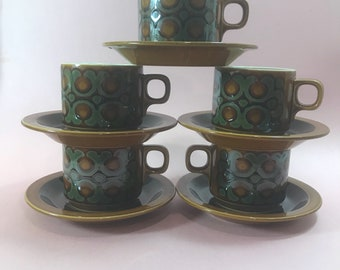 Hornsea Bronte Coffee Cup and Saucer Set of 5