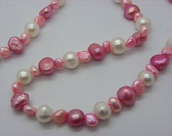 pearls and white cultured pearl necklace pink necklace