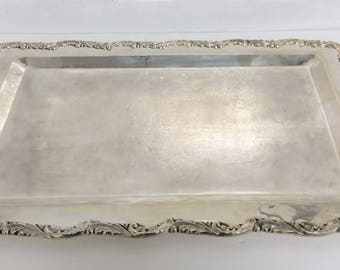 "Sterling Silver Platter Made In Peru (27"" x 15 1/2"" x 1/2"")"