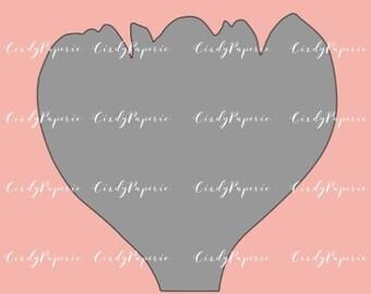 PNG DIGITAL FILE.  Penelope Paper Flower  Template instant download.