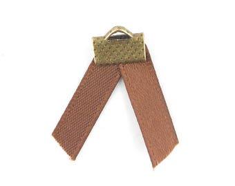 x2m 5mm (55 (A) Brown satin ribbon