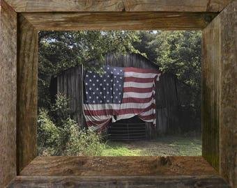 "American Flag - FRAMED - 14"" x 11"" FREE SHIPPING!"