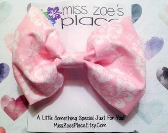 Pink Fabric Hair Bow, Kids Hair Bow, Girls Hair Bow, Hair Accessory, Fabric Hair Clip, Girls Hair Clip, Teen Hair Bow, Handmade Bow