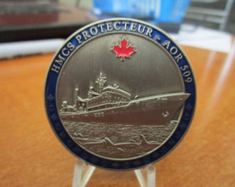 Her Majesty's Canadian Ship HMCS Protecteur AOR 509 Challenge Coin #4003