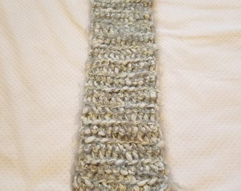 Toddler Serpant Gray and Sparkly Pale Yellow Marble Scarf