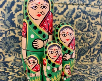 Indian Sari Clad Russian Dolls